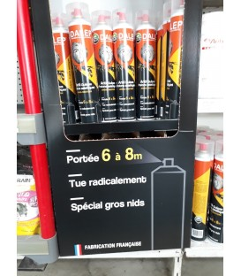 AEROSOL BOMBE POUR FRELONS NID FRELONS ASIATIQUES GUEPES
