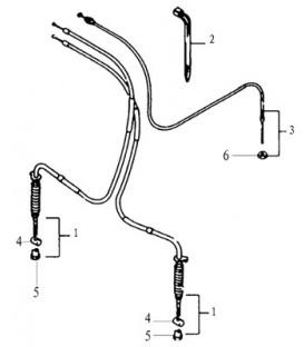 CABLES FREIN AVANT - CABLE ACCELERATEUR