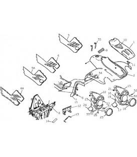 CARROSSERIE AVANT - CHASSIS - AUTOCOLLANTS