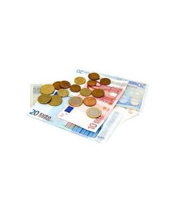 ACOMTE DE1€ POUR COMMANDE FOIS LE MONTANT A PAYER